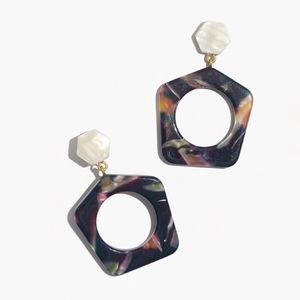 Madewell geometric drop earrings